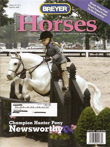 Breyer Just About Horses JAH September/October 2008 Volume 35 Number 5