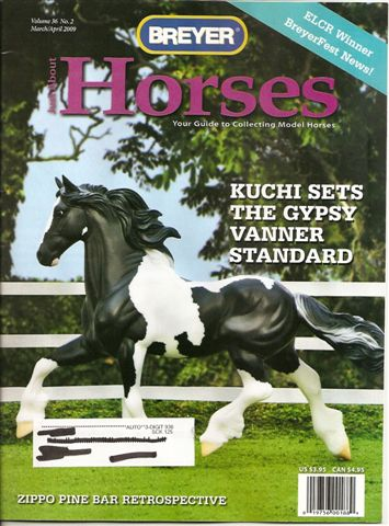 Breyer Just About Horses JAH March/April 2009 Volume 36 Number 2
