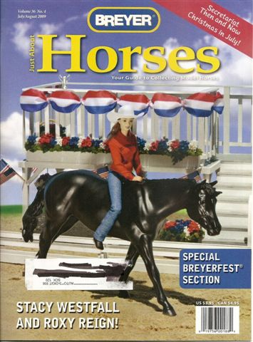 Breyer Just About Horses JAH July/August 2009 Volume 36 Number 4