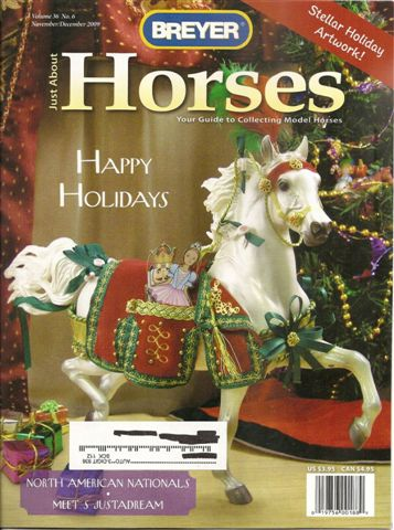 Breyer Just About Horses JAH November/December 2009 Volume 36 Number 6