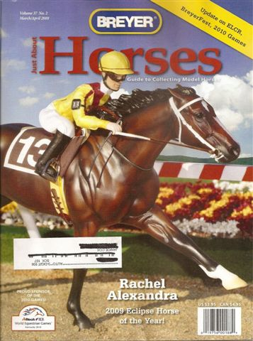 Breyer Just About Horses JAH March/April 2010 Volume 37 Number 2