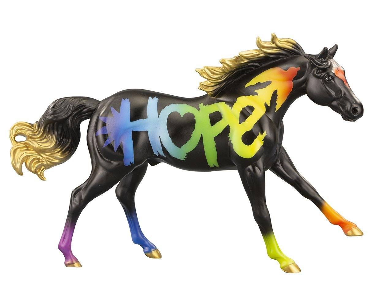 #62121 Hope 2021 Freedom Horse of the Year Rainbow Black QH Stallion