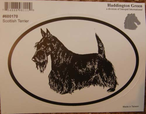 Scottish Terrier Scottie Dog Decal Oval Decal