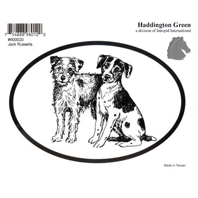 Jack Russell Terrier Dog Oval Decal Sticker