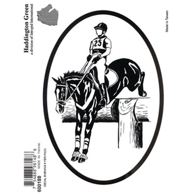 Event Horse & Rider Jumping Horse Oval Decal Eventing Horse Sticker