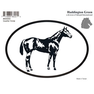 QH Quarter Horse Oval Decal Sticker