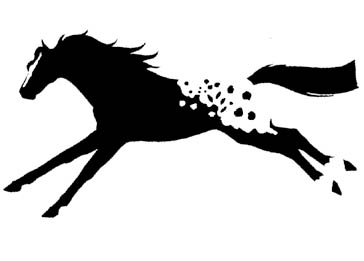 Window Decal Sticker Running Blanket Appaloosa Horse App Horse