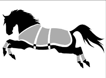 Window Decal Sticker Frolicking Blanketed Horse