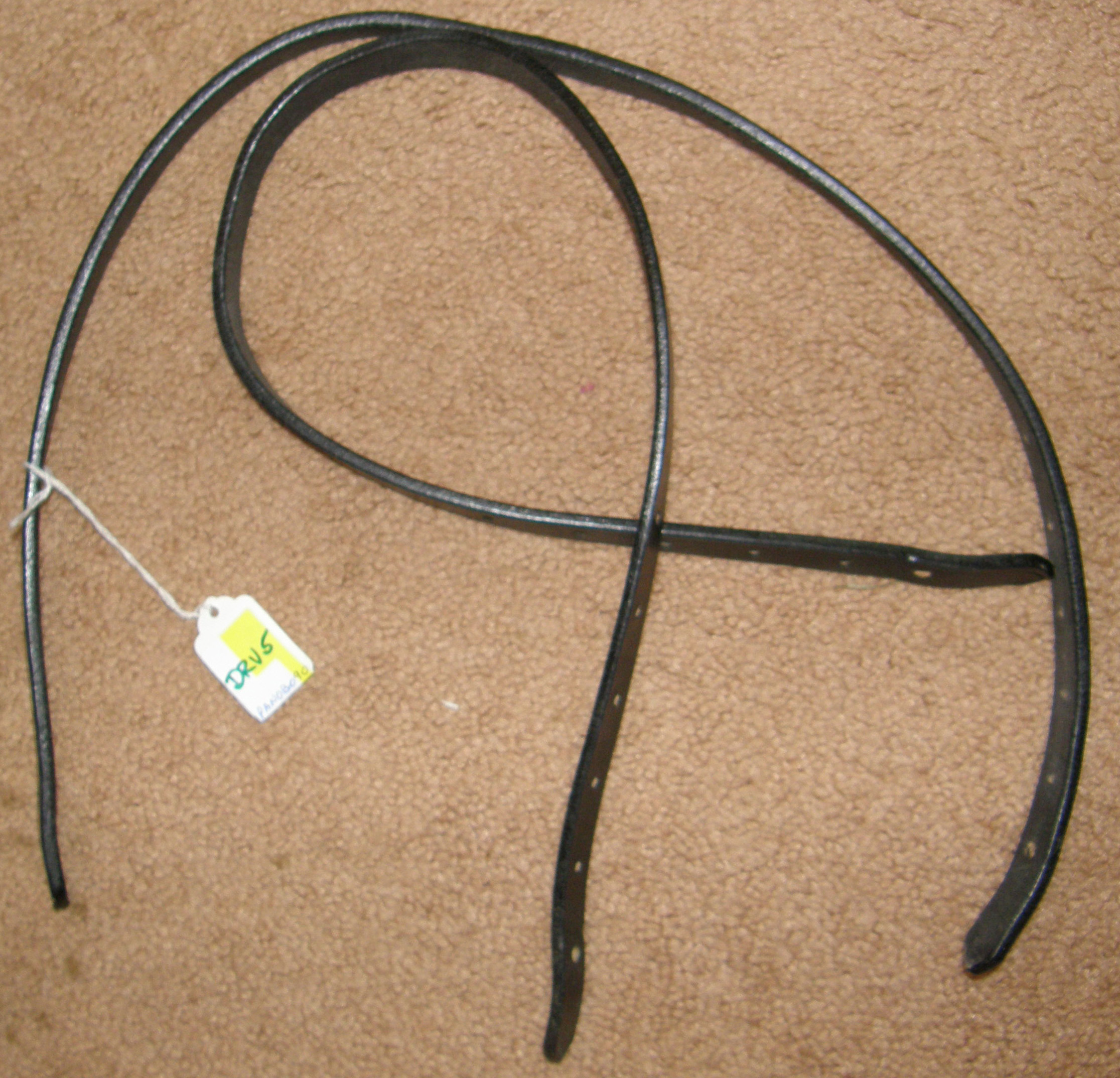 "Leather Harness Straps Black leather straps 5/8"" wide x 32 ½"""