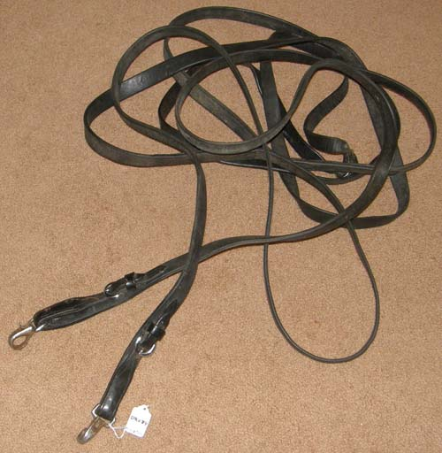 Single Horse Driving Lines Leather Pleasure Reins Draft Horse Harness Driving Lines