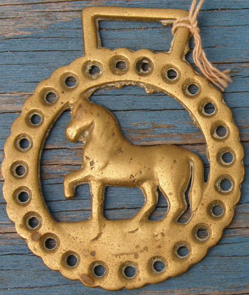 Vintage Horse Harness Brass Trotting Horse Harness Brass Decoration Medallion