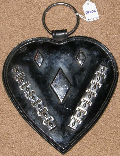 Patent Leather Draft Horse Harness Drop with Chrome Diamonds Trim Harness Heart Line Drop