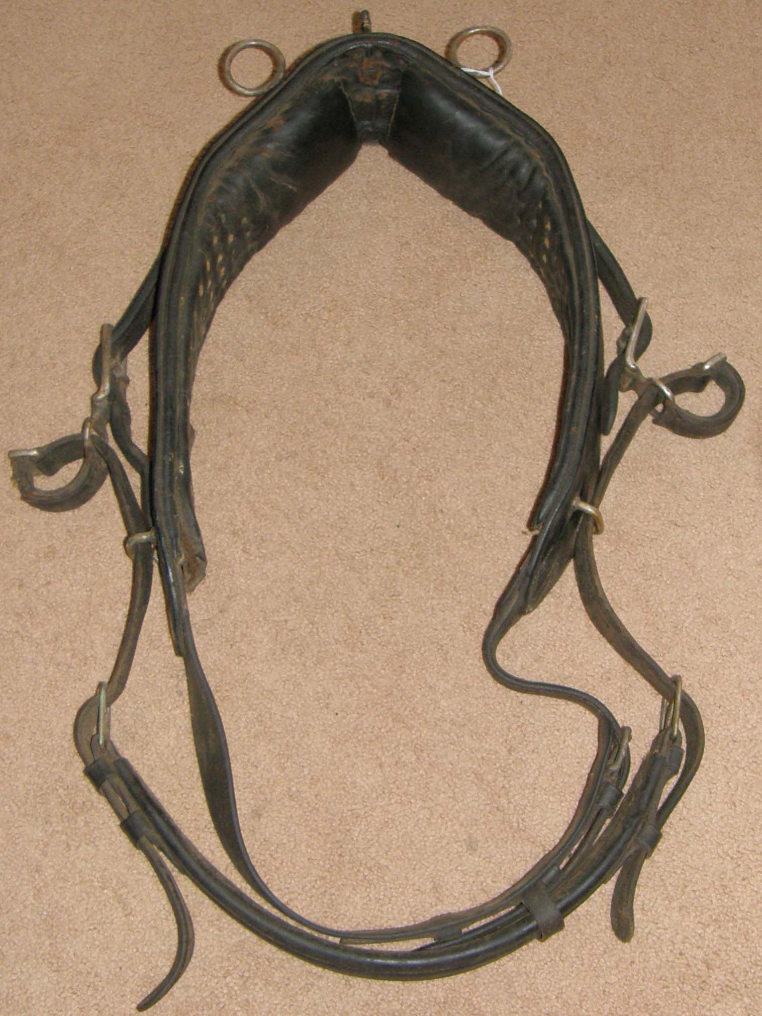 Vintage Horse Driving Harness Saddle & Girth
