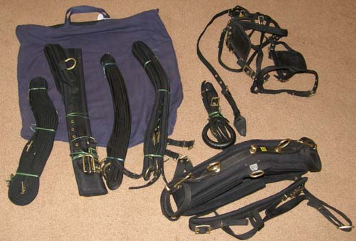 Nylon Driving Harness Cob Small Horse Harness Synthetic Harness Black