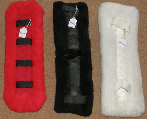 Fleece Harness Saddle Pad Driving Harness Back Pad Red Black White