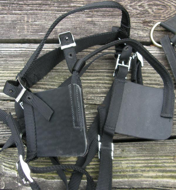Black Nylon Large Mini Small Pony Driving Harness Synthetic Pleasure Harness Driving Harness