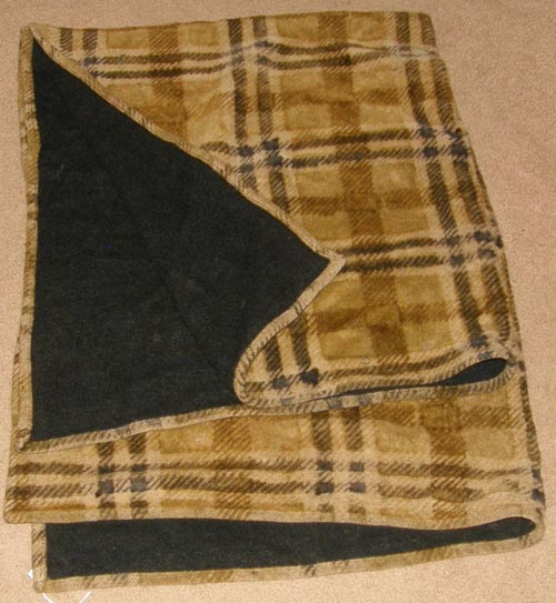 Vintage Chase? Carriage Blanket Driving Horse Lap Blanket Wool Sleigh Lap Robe Brown Plaid/Black