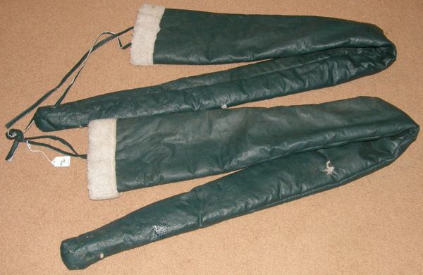 "Fleece Lined Shaft Covers 66"" Long Hunter Green Vinyl Naugahyde Horse Driving Cart Carriage Shaft Covers"