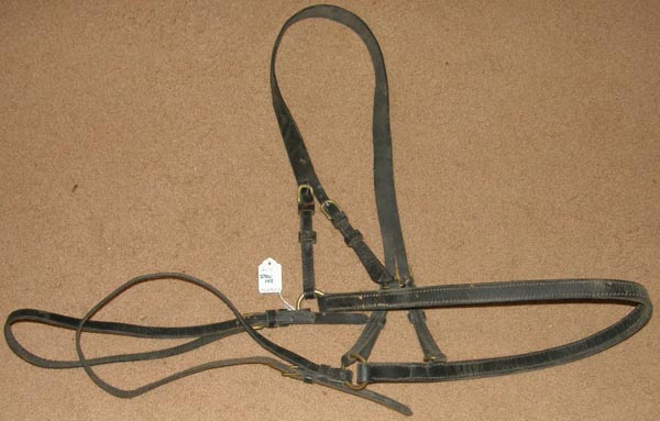 Leather Driving Harness Britching Hip Straps Hold Back Straps Leather Breeching Mule/Lg Pony Harness Parts