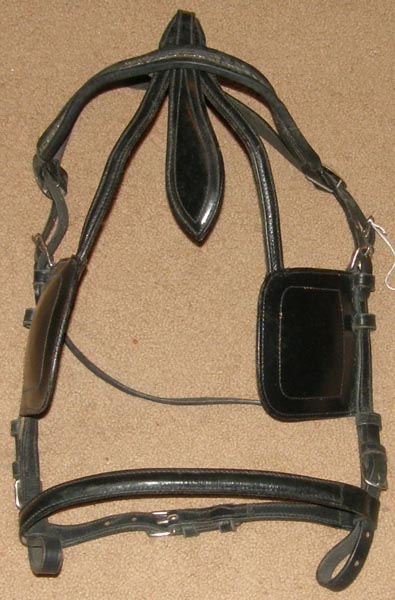 Driving Harness Bridle with Blinders Patent Leather Driving Horse Bridle with Square Blinds Blind Bridle Coach Bridle Surrey Bridle with Face Drop
