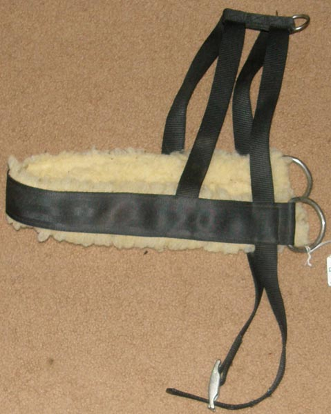 "Fleece Lined Nylon L Goat Pulling Harness Large Breed Dog Harness 44"" Black"