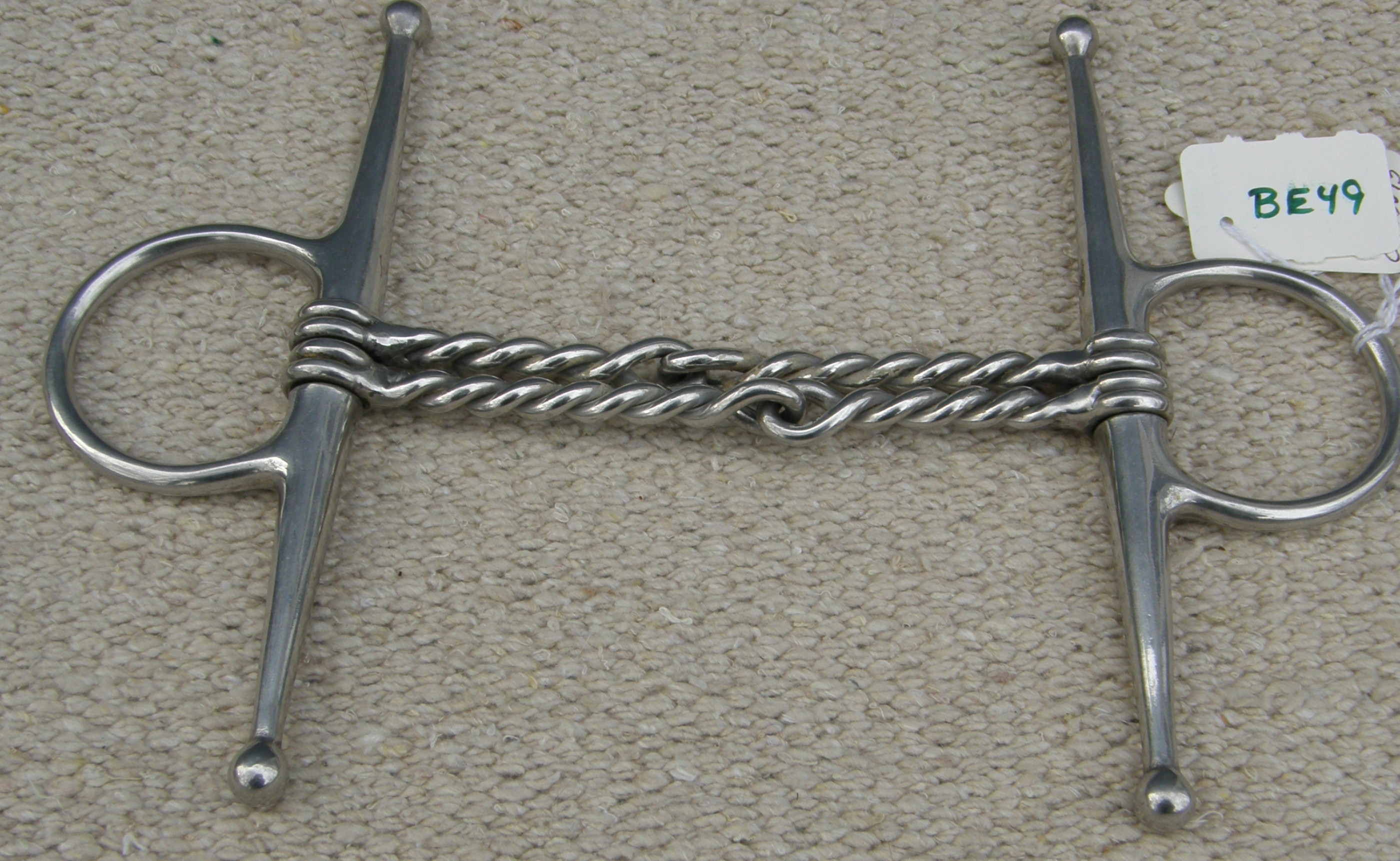 "4 1/2"" Double Twisted Wire Full Cheek Snaffle Bit"