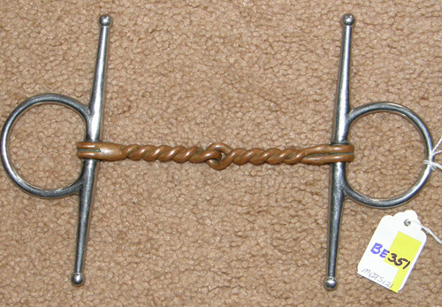 "4 3/4"" Copper Twisted Wire Full Cheek Snaffle Bit"