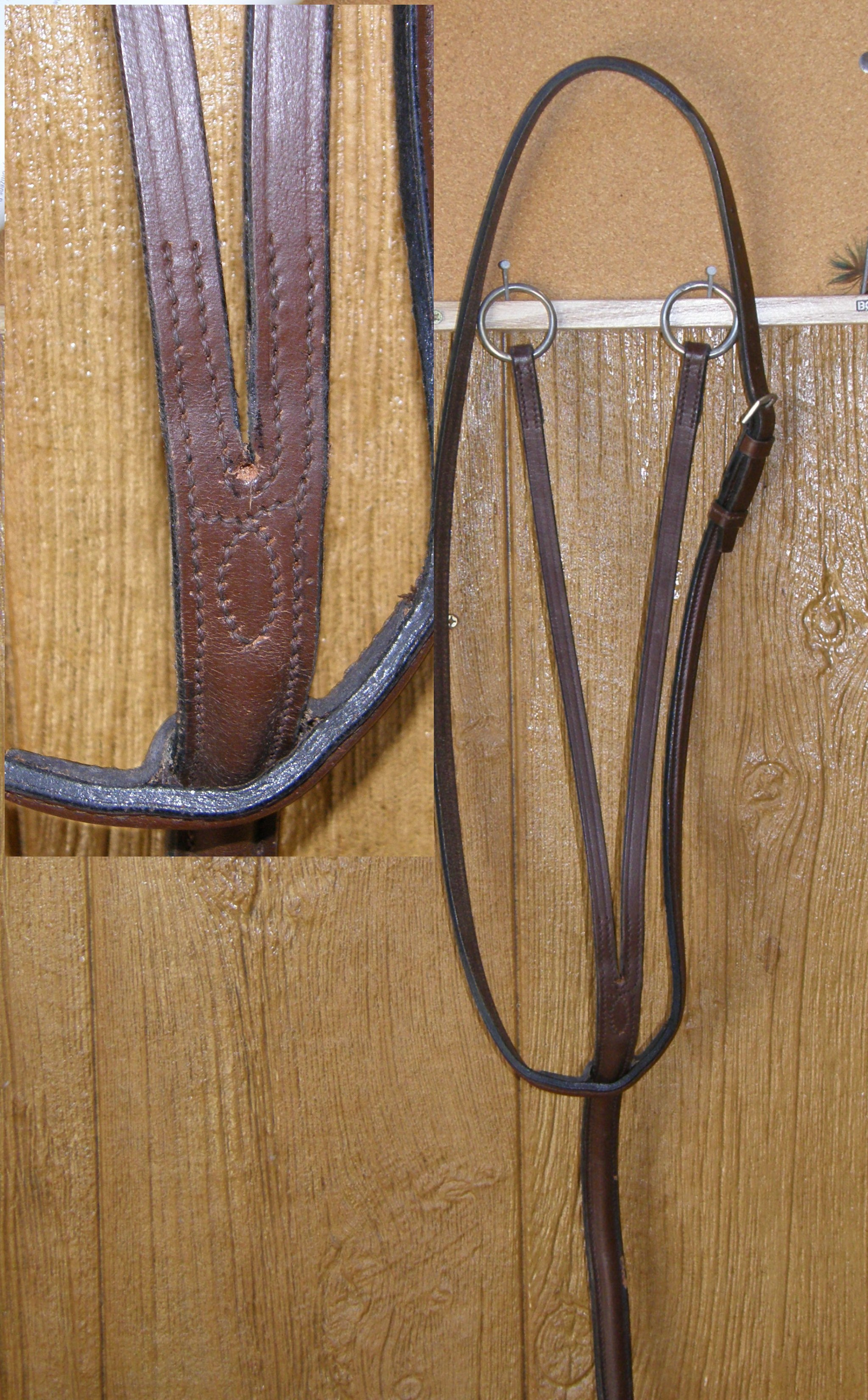 English Deluxe Raised Leather Running Martingale