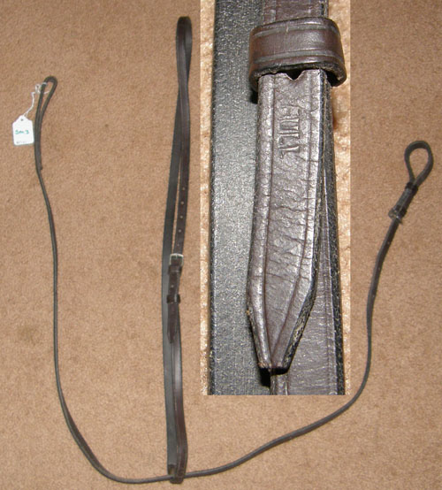 English Standing Martingale, Flat Leather Standing Martingale