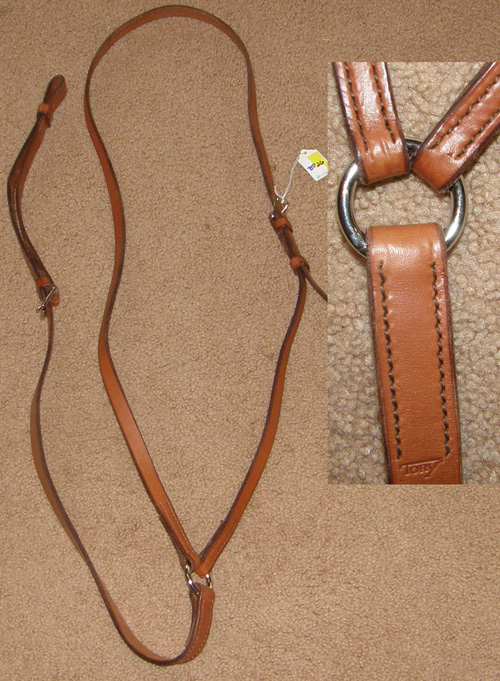 English Breastplate Racing Yoke Leather Martingale English