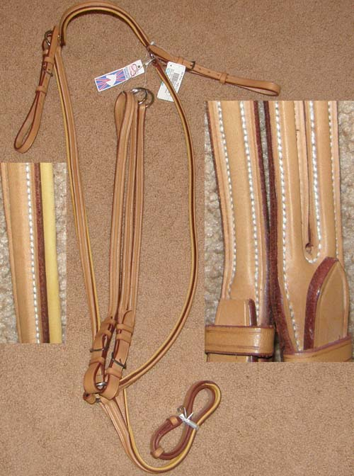 Equi-Bette Square Raised Padded Breastplate with Buckle In Standing Martingale Running Martingale Attachment Padded Leather English Breast Plate Chestnut Horse