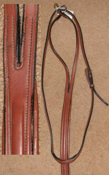 Equi-Bette Square Raised Padded Running Martingale Padded Leather English Running Martingale Chestnut Horse