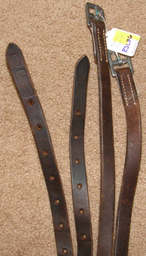 "Crosby English Stirrup Leathers Childs English Leathers Dark Sherry? Brown 3/4"" x 59"""