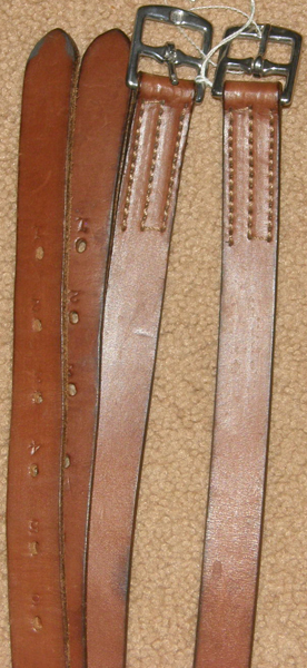 "Tory Leather Heavy English Bridle Stirrup Leathers English Stirrup Leathers Oakbark 1"" x 55"""