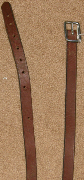 "Childs English Stirrup Leathers 3/4"" x 44"" Single Stirrup Leather Dark Reddish Brown"
