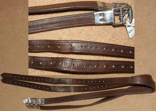 "Marcel Toulose Nylon Lined Stirrup Leathers M Toulouse English Stirrup Leathers Brown 1"" x 54"""