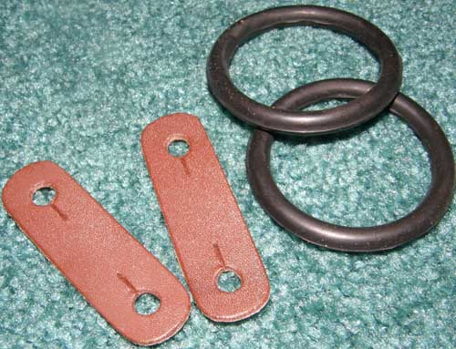 Replacement Rubber Bands Peacock Rings Rubber Bands & Leather Loops for Safety Stirrups