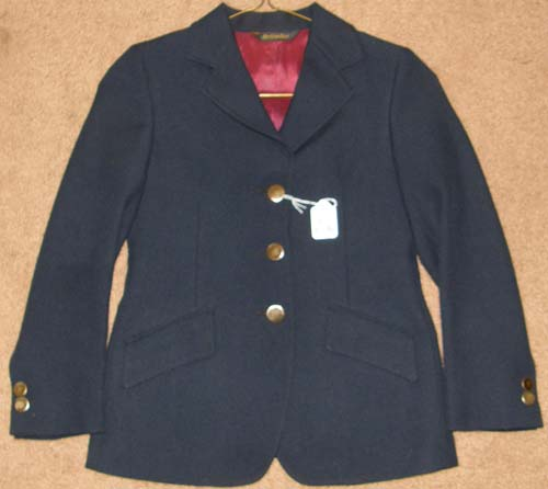 Lord Geoffrey The Tailored Sportsman English Jacket Riding Show Hunt Coat Childs 10-12? Navy Blue