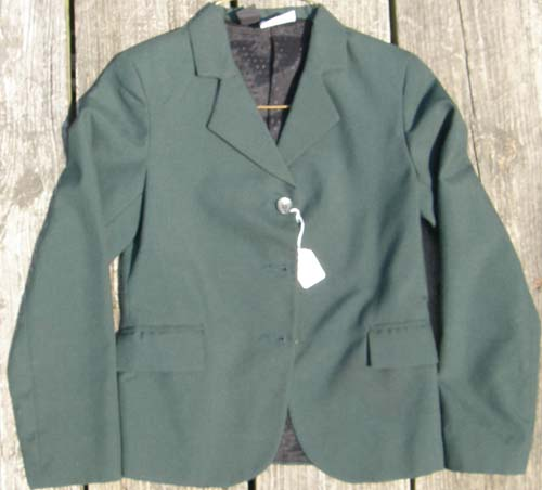 Devon Aire Concour Elite English Jacket, Hunt Coat, Riding Coat Childs 12 Hunter Green