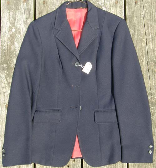 Lord Geoffrey The Tailored Sportsman English Jacket Riding Show Hunt Coat Ladies 8? Navy Blue
