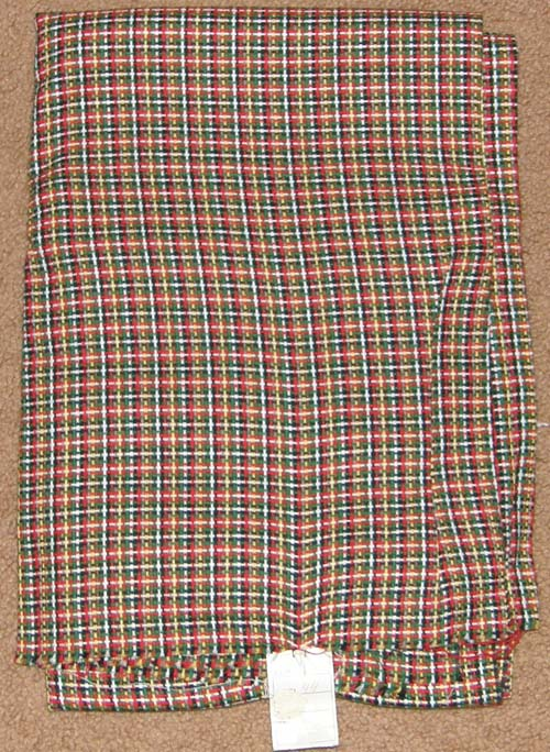 Plaid Woven Fabric Cotton/Poly Dress Material Remnant