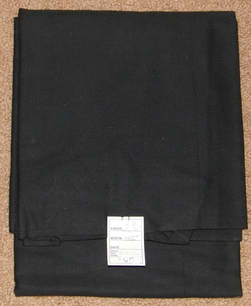 Black Fabric Cotton/Poly Dress Material Remnant
