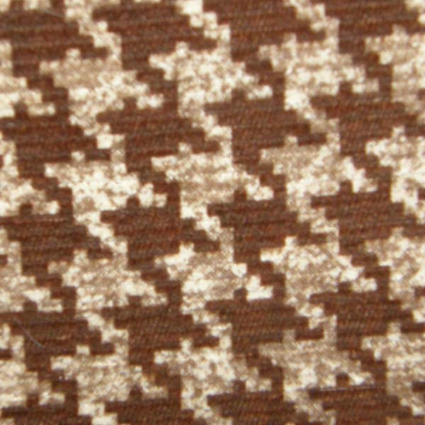 Vintage Brown & Tan Print Corduroy Fabric Cotton/Poly Dress Material Remnant