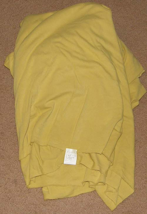 Chamois Mustard Colored Cotton Poly Nylon Blend Fabric Cotton/Poly Dress Material Remnant