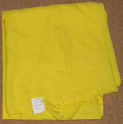 Poly/Nylon? Yellow Fabric Cotton Dress Material Remnant
