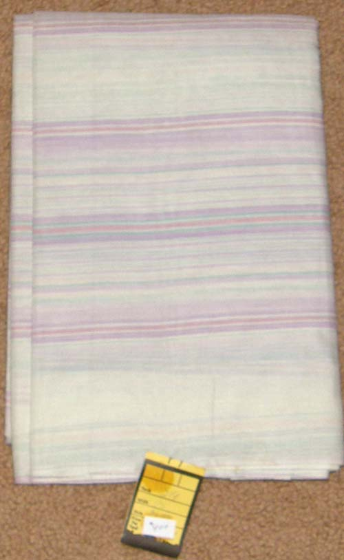 Narrow Purple Striped Print Fabric Cotton Dress Material Remnant