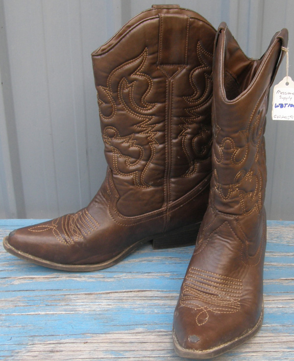 Mossimo Supply Western Boots Cowboy Boots Brown Ladies 7