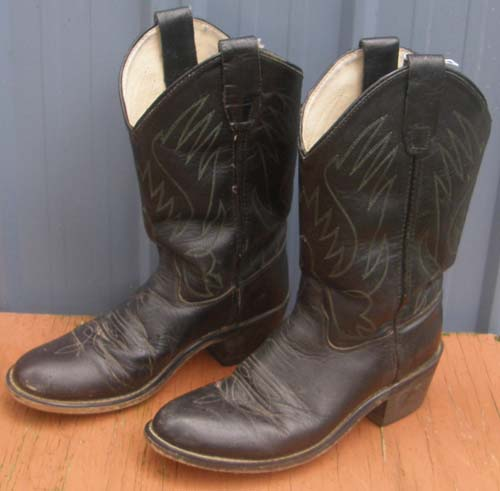 Old West CCY 1110G Youth Western Boots Childs 5 Cowboy Boots Black