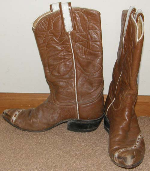 Vintage Tony Lama Western Boots Wing Tip Type Cowboy Boots Chestnut Brown Ladies