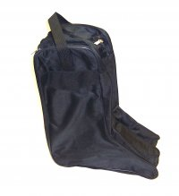 Black Nylon Western Boot Bag